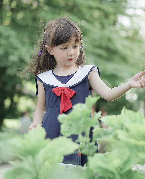 girl and the plants