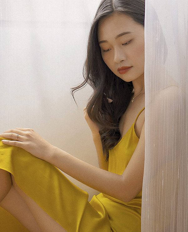 nightdress and curtain