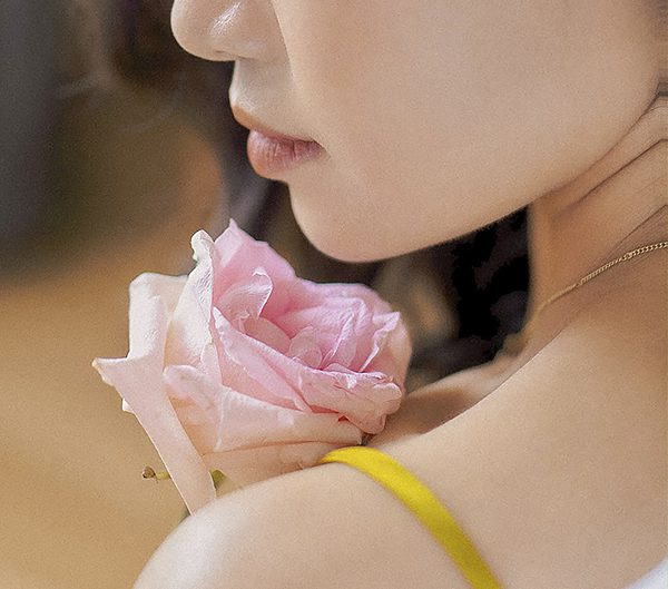 rose and woman